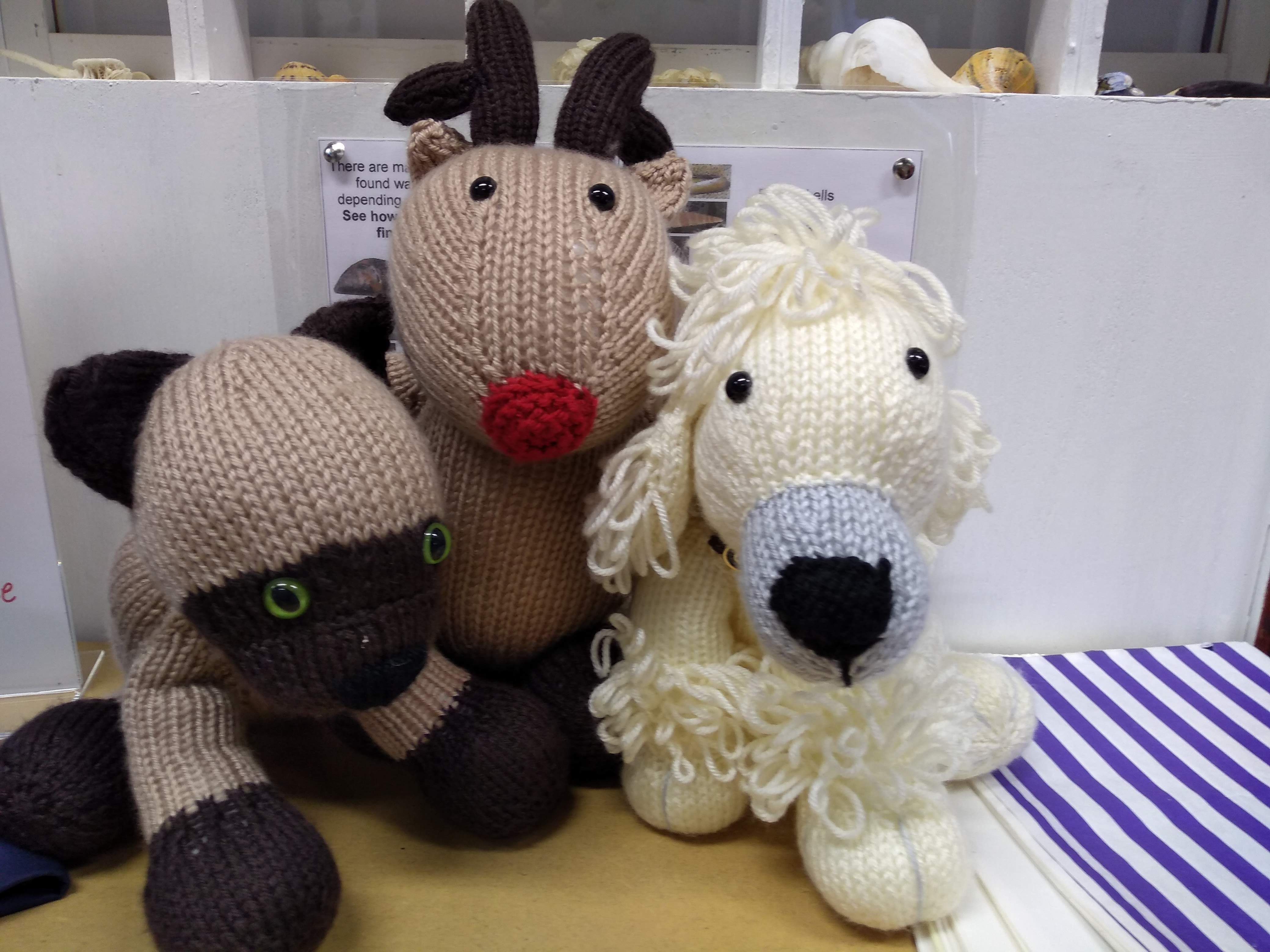 Knitted toys £5.00 each