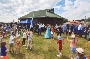 Children dancing at The Sand Bothy - RNLI Fun Day
