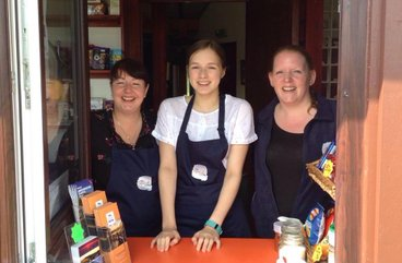 Volunteers at The Sand Bothy kiosk