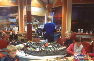 Children lego workshop inside The Sand Bothy